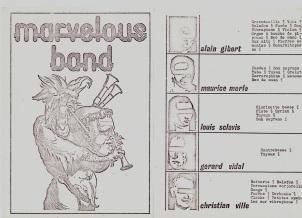 Pochette Marvelous Band (1975)